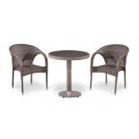 Стол со стульями Afina T501DG/Y290BG-W1289 (2+1), палевый, купить за 29 600руб.