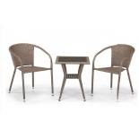 стол со стульями Afina T25B/Y137C-W56 (2+1), светло-коричневый