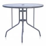 стол садовый Afina D90 серебристый металик