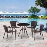 стол со стульями Afina T282ANS/Y137C-W53 Brown (комплект)