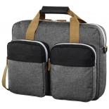 сумка для ноутбука Hama Florence II Notebook Bag 15.6, серая с черным