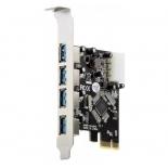 контроллер (плата расширения для ПК) Orient VA-3U4PE (PCI-E - 4xUSB3.0)