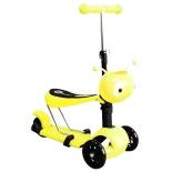 самокат для взрослых Moove Fun Пчёлка MF-SCST-02 YELLOW, жёлтый