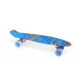 скейтборд Moove&Fun пластиковый 22х6-18, синий