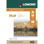 фотобумага для принтера Lomond 0102073 (A4, 140г/м2, 25 листов)