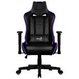игровое компьютерное кресло Aerocool AC220 RGB-B с перфорацией, с RGB подсветкой черное