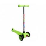 самокат Moove&Fun трехколесный MINI PU MF-MINI-PU, зеленый