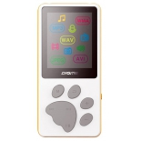 аудиоплеер Digma S3 4Gb, белый/оранжевый