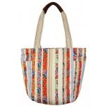 сумка женская Justo Creazione 2427 AB, бежево-красная