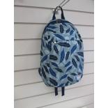 рюкзак городской Nosimoe 012-02D перья-синий-серый