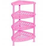 этажерка Violet 1604/9, розовая