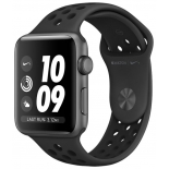 часы наручные Apple Watch Series 3 38mm, Aluminum Case with Nike Sport Band черные