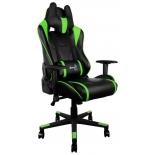 игровое компьютерное кресло Aerocool AC220 AIR-BG с перфорацией, черно-зеленый