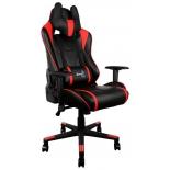 игровое компьютерное кресло Aerocool AC220 AIR-BR с перфорацией, черно-красное