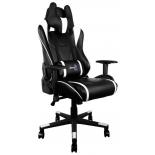 игровое компьютерное кресло Aerocool AC220 AIR-BW с перфорацией, черно-белое