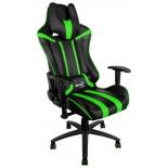 игровое компьютерное кресло Aerocool AC120 AIR-BG, черно-зеленое