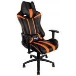 игровое компьютерное кресло Aerocool AC120 AIR-BO, черно-оранжевое
