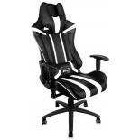 игровое компьютерное кресло Aerocool AC120 AIR-BW, черно-белое