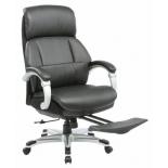 кресло офисное Бюрократ  _MIRO/BLACK, с подставкой для ног