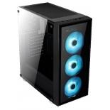корпус компьютерный AeroCool Quartz RGB (без БП), черный