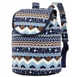 рюкзак городской Nosimoe 006D, синий-узор