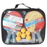 набор для настольного тенниса Start Line Level 100 (4 ракетки, 6 мячей и сумка)
