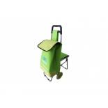 сумка-тележка Воля со стулом, зеленая