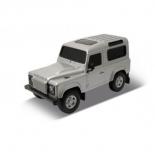 радиоуправляемая модель Welly  Land Rover Defender, серебристая