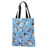 сумка женская Nosimoe 052D тоут (коты-мульт-синий)