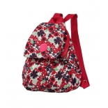 рюкзак городской Continent 9501 бордовый-цветы