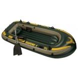 лодка надувная Intex Seahawk 68351, четырёхместная (гребная)