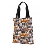 сумка женская Nosimoe 052-02D тоут щенки