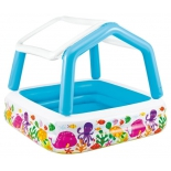 бассейн надувной Intex 57470 157х157х122см (с навесом от солнца)
