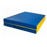 мат гимнастический Perfetto Sport № 10, сине-жёлтый