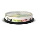 Оптический диск Mirex CD-R 700 Mb, Ink Printable (10 шт)