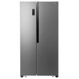 холодильник Shivaki SBS-566DNFX, серебристый