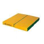 мат гимнастический Perfetto Sport № 2 зелёно-жёлтый