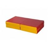 мат гимнастический КМС № 11, красно-жёлтый