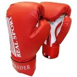перчатки боксерские Leader 10 унций, красные