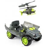 радиоуправляемая модель Spin Master Air Hogs Бронемашина с вертолетом - разведчиком, серая / зелёная