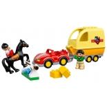 конструктор LEGO Дупло 10807, Трейлер для лошадок