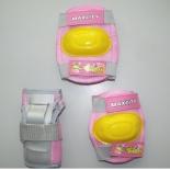 защита роликовая MaxCity Little Rabbit р. S, розовая