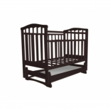 детская кроватка Агат Золушка-4, шоколад