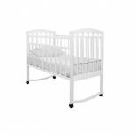 детская кроватка Агат Золушка-1, белая