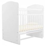 детская кроватка Агат Золушка-10, белая