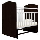 детская кроватка Агат Золушка-10, шоколад/белая