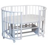 детская кроватка Папа Карло 6 в 1 (трансформер), белая