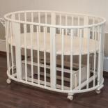 детская кроватка Папа Карло 6 в 1 (трансформер), бежевая