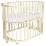 детская кроватка Папа Карло 5 в 1 (трансформер), бежевая