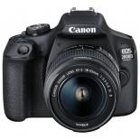 цифровой фотоаппарат Canon EOS 2000D KIT (18-55mm IS II), черный